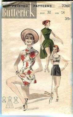 1950s Vintage Butterick 7760 Play by DesignRewindFashions on Etsy