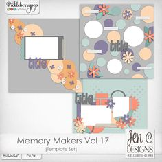 Memory Makers Vol 17 Template Pack: CU okay