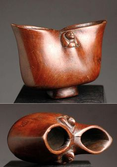 Africa | Drinking cup from the Suku people of DR Congo | Wood | Late 19th to early 20th century.