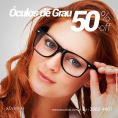 Óculos de Grau com até 50% com desconto  Compre pelo site em até 10x Sem Juros e Frete Grátis nas compras acima de R$400,00 reais. 👉 www.aoculista.com.br/oculos-de-grau  #aoculista #glasses #eyeglasses #oculos