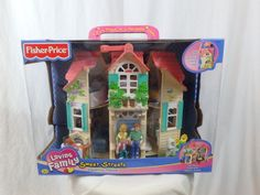 Fisher Price Loving Family Sweet Streets Country House NEW IN BOX 2001 Furniture #FisherPrice