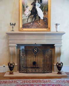 Cast stone fireplace mantel surround French design idea with cast stone hearth and surrounds Artisan Kraft Fireplace Mantel Surrounds, Marble Fireplace Mantel, Stone Fireplace Mantel, Classic Fireplace, Fireplace Redo, Stone Fireplaces, Mantel Shelf, Marble Fireplaces, Fireplace Ideas