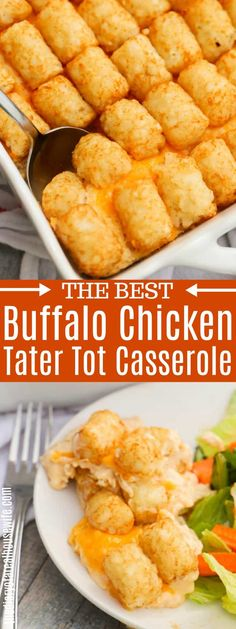 The BEST dinner recipe. I love this simple Buffalo Chicken Tater Tot Casserole. … The BEST dinner recipe. I love this simple Buffalo Chicken Tater Tot Casserole. Buffalo Chicken Casserole, Buffalo Chicken Recipes, Healthy Chicken Recipes, Cooking Recipes, Best Chicken Casserole, Buffalo Chicken Pasta, Easy Cooking, Healthy Cooking, Healthy Eating