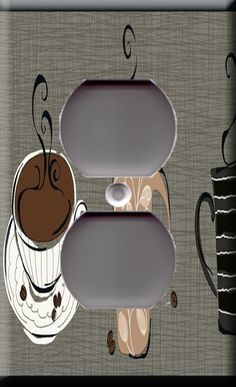 Metal Light Switch Plate Cover Cafe Kitchen Decor Coffee Decor