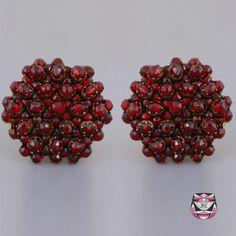 Antique Victorian Rose-cut Garnet Earrings
