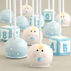 12 Handmade Baby Boy Cake Pops