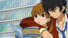 """This is from the anime """"My Little Monster."""" The couple in the picture is Haru Yoshida and Shizuku Mizutani."""