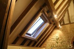 King post trusses and open vaulted ceilings - Oakmasters Oak Frame House, Exposed Rafters, Open Ceiling, Man Projects, Roof Structure, Vaulted Ceilings, Extensions, Restoration, Barn