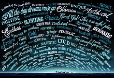 South Pole - Words used by polar explorers to describe the South Pole