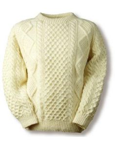 This knitting kit is comprised of the finest traditional Aran Wool, together with your Family Crest, sweater history and your Kelleher knitting pattern. We provide enough Aran wool to create your perfectly sized sweater plus a little extra. Knitting Ideas, Knitting Patterns, Knits, Ravelry, Knitwear, Men Sweater, Craft Ideas, Wool, Crochet