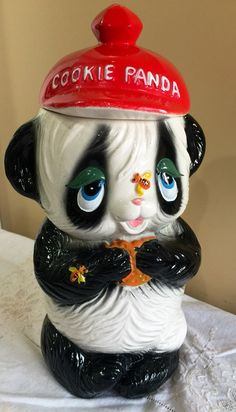 A personal favorite from my Etsy shop https://www.etsy.com/listing/252009667/adorable-vintage-1960s-cookie-panda-jar