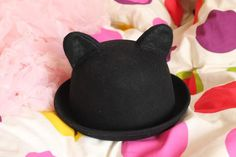 We love this crafty hat with cat ears. #DIY