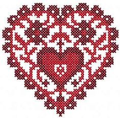 Loving heart cross stitch free embroidery design - Cross stitch machine embroidery - Machine embroidery community