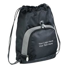 Slazenger Turf Series Cinch Drawstring Bags - Simply perfect bag to make impressions on your corporate clients! #custombags #drawstringbags #promotionalitem