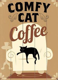 Comfy Cat Coffee Wall Decor