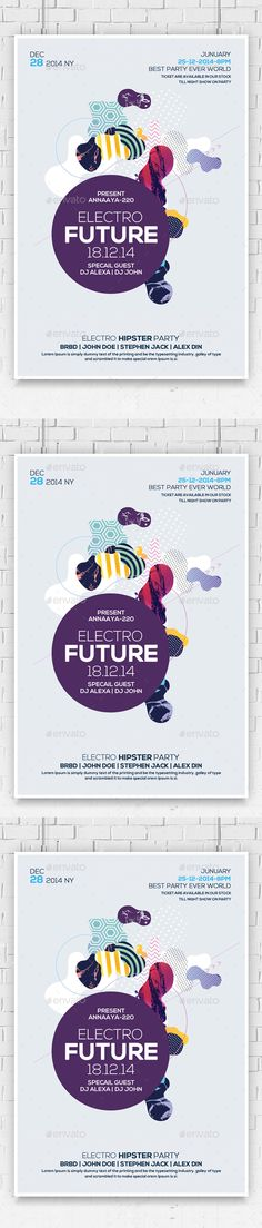 Electro Future Flyer Template PSD