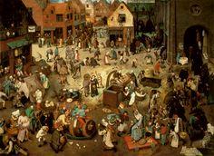 Bruegel: Het Gevecht tussen Vasten en Vastenavond/ Der Kampf Zwischenfaschig/ The Battle Between Carnival and Lent (1559) - Kunsthistorischess Museum, Wien