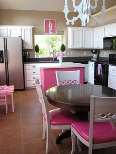 Real kitchen but may use the color palate as inspiration for Sophia's Barbie doll kitchen redo