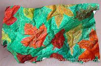 Kids Artists: autumn leaves project-3rd grade