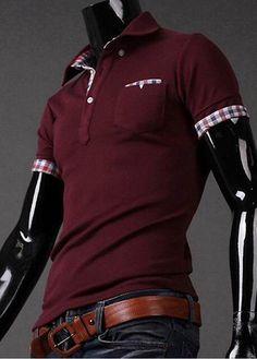 Man Turndown Collar Short Sleeve Polo Tees – teeteecee - fashion in style