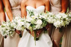 What we talked about with Events in Bloom would look a lot like this I think. Green and white bouquets