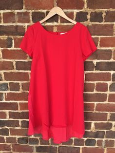 Red A-Line Babydoll Dress - $32