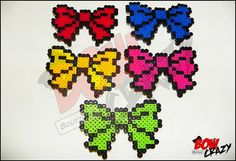 Perler Cute Hair Bow with Tails by TotallyBowCrazy