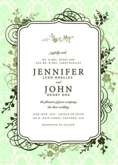 Vintage Floral invitations cover design vector 05