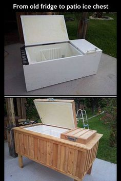 Old fridge to outside cooler