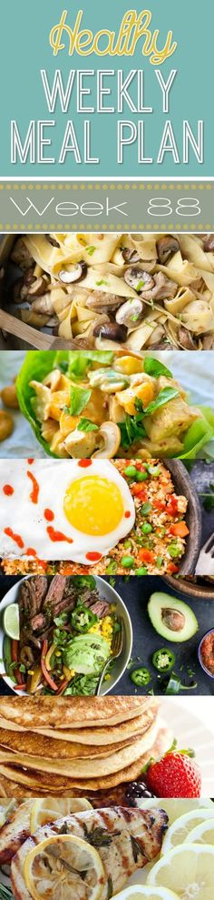 Make your life easier AND healthier with this family friendly Healthy Meal Plan! It has a weeks worth of healthy recipes that you & the kids will love! Recipes for breakfast, lunch, and dinner with a few snacks and desserts snuck in! Healthy Weekly Meal Plan, 21 Day Fix Meal Plan, Ways To Eat Healthy, Meal Plans To Lose Weight, Healthy Meals For Two, Super Healthy Recipes, Diet Meal Plans, Meals For The Week, Clean Eating Recipes
