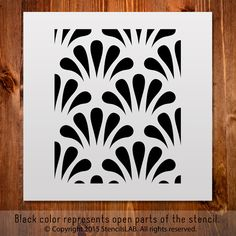 "Classic Pattern Stencil For DIY Projects. Small Stencil. (11"" x 11"")"