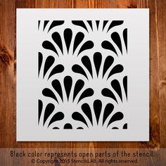 "Classic Pattern Stencil For DIY Projects. Small Stencil. (11"" x 11"")"