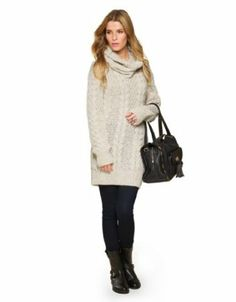 Monsoon Women's Carly Cable Tunic with Detachable Cowl