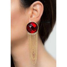 Pipa Bella Red American Long Tassel Earrings #Red #Party #Modern #Jewlery