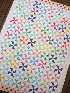 Pinwheels on Parade Quilt Pattern PDF File  by redpepperquilts, $8.50