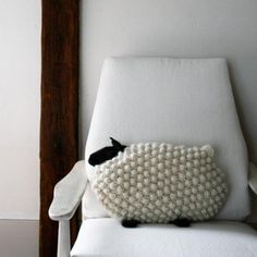 Bobble Sheep Pillow in Super Soft Merino | Purl Soho - Create