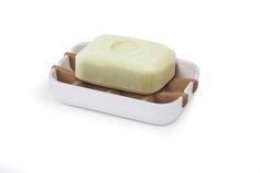 Lexon Bamboo soap holder. www.geminioctopus.com