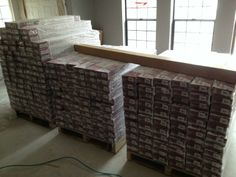 New wood floor during climate control process