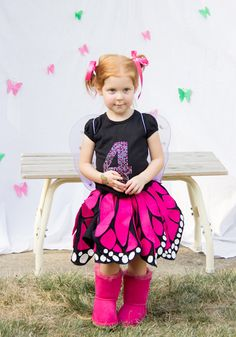 The Train To Crazy: Handmade Costume Series: DIY Twirly Butterfly Skirt Tutorial