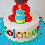 First Birthday Cakes NJ---Elmo Custom Cakes