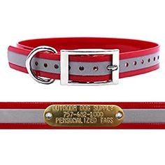 1 inch Dog collar Dog collar pet accesory red dog collar with black tone ribbon design pet jewerly Pet supplies