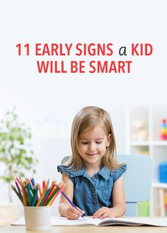 11 early signs your kid will be super smart! #Smart #Kids #Interesting