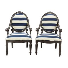 Pre-Owned Louis XVI Oval Backed Chairs Pair (98.455 RUB) ❤ liked on Polyvore featuring home, furniture, chairs and accent chairs