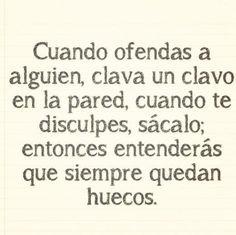 #perdon #huecos #cambios