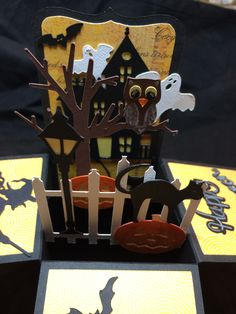 Card in a box. Halloween