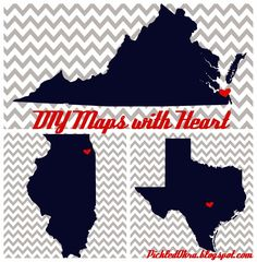 Pickled Okra by Charlie: DIY Maps with Heart! Tutorial & Links