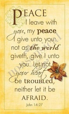 His peace...