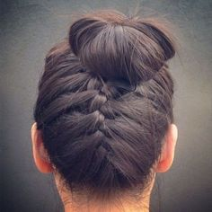 hair buns.. love this I tried It for a braids maid hairstyle with a less messy bun it was amazing