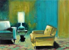 "Saatchi Online Artist: Ian Mclean; Oil, 2006, Painting ""Waiting Room"""