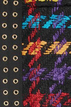 Balmain - Houndstooth Cotton-blend Bomber Jacket - Black - FR40